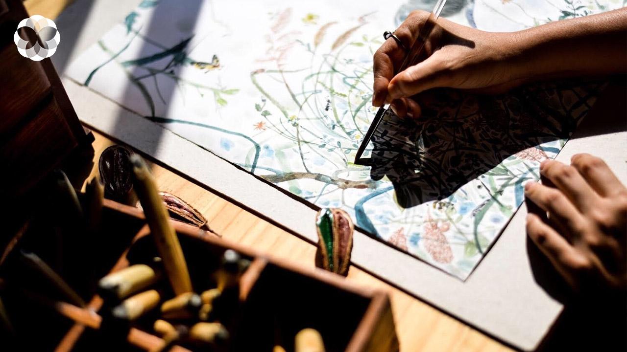 แปรรูปแรงบันดาลใจจากดอกไม้สู่ผลงานศิลปะ